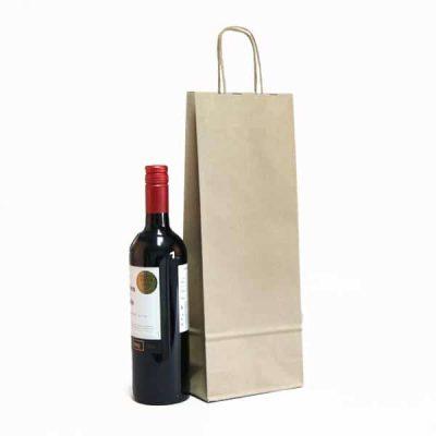 sacchetti portabottiglie vino sealing avana maniglia ritorta