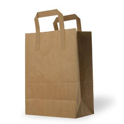 shopping bags kraft avana riciclato maniglia piatta