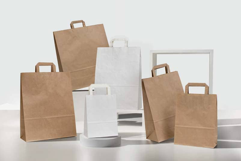 Shopper personalizzate carta economiche maniglia piatta