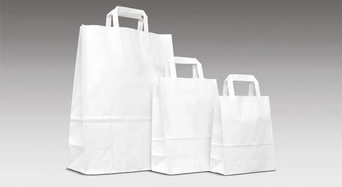 Shopper personalizzate economiche kraft bianco