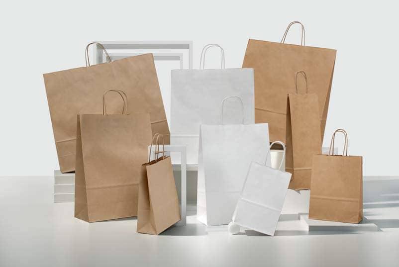 Shopper personalizzate economiche maniglia ritorta