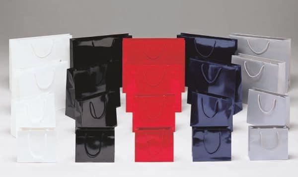 Shopper personalizzate lusso plastificate lucido