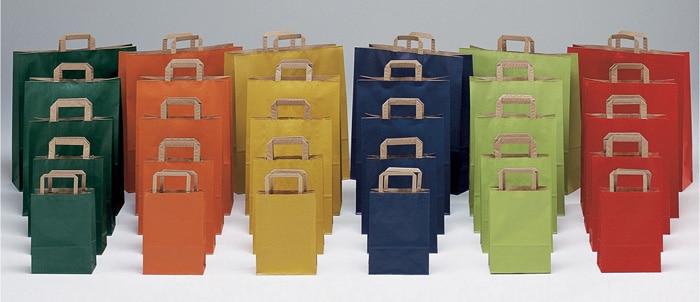 Shopper personalizzati colorati maniglia ritorta sealing avana