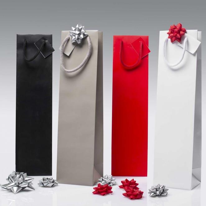 Shopper portabottiglie personalizzate eleganti plastificati
