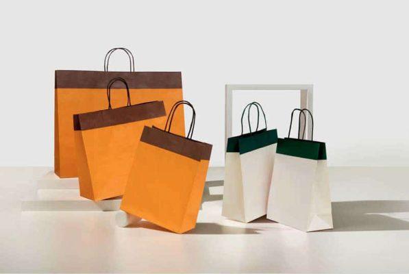 Shoppers carta j fold duetto maniglia ritorta bicolore