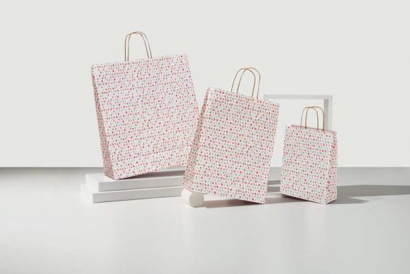 shopper fantasia st manico cordino kraft