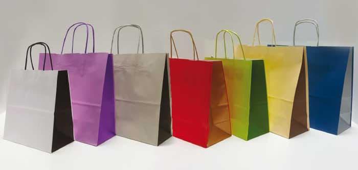 shopper personalizzate bicolore maniglia cordino