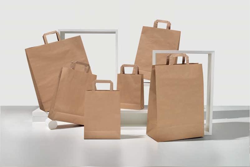 shoppers carta economiche personalizzate kraft avana