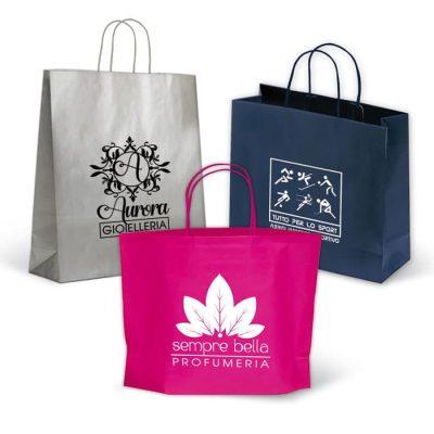 shoppers personalizzate colorati fondo pieno
