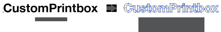 esempio testo convertito in curve