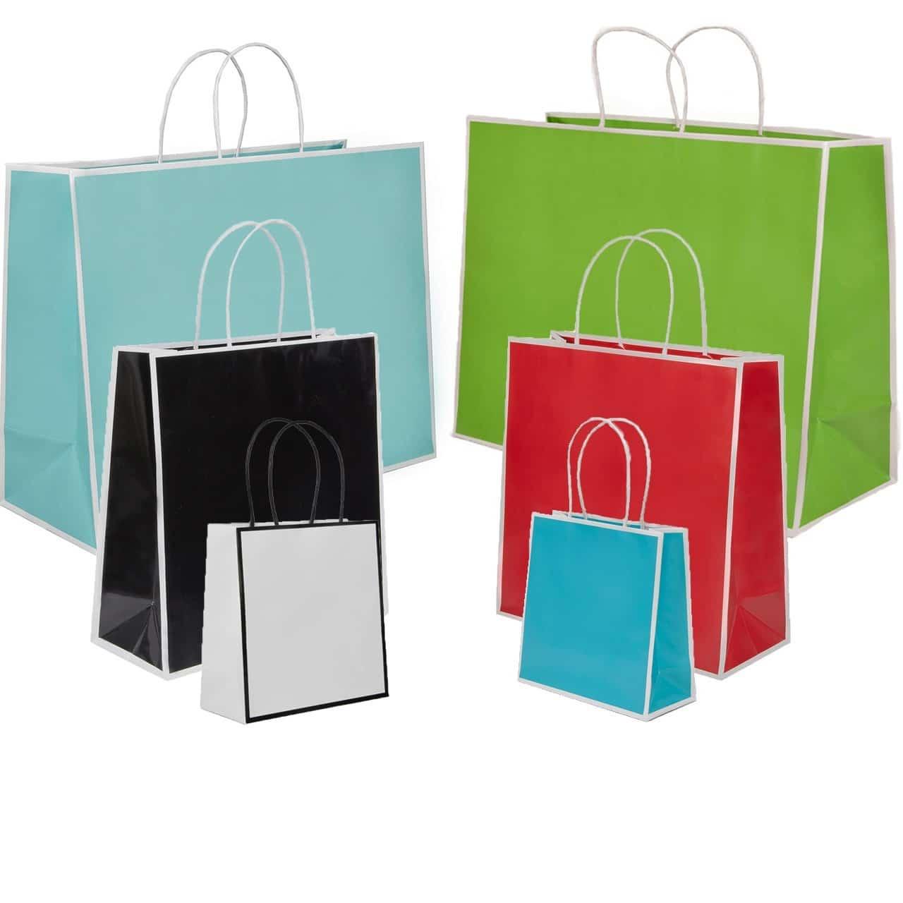 shopper personalizzati maniglia ritorta colorati