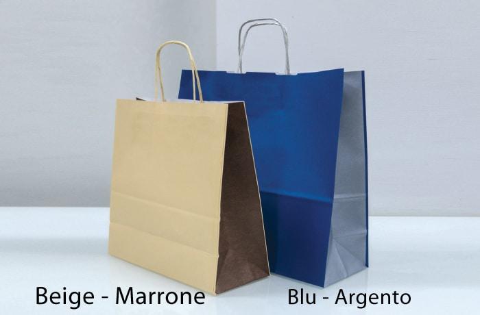 buste personalizzabili bicolore maniglia ritorta beige blu argento