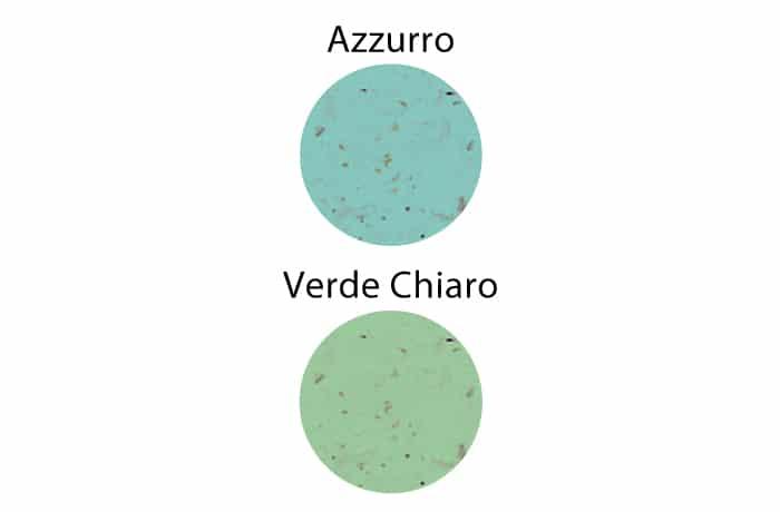 buste personalizzate carta erba colorate azzurro verde chiaro maniglia ritorta