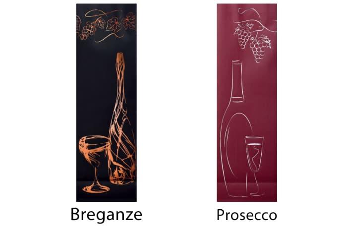 sacchetti portabottiglie vino lusso plastificazione soft touch kraft bianco maniglia ritorta