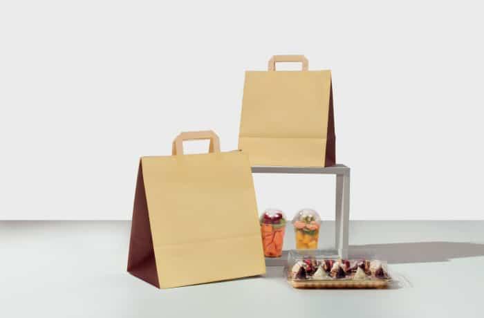 shopper take away bicolore maniglia piatta