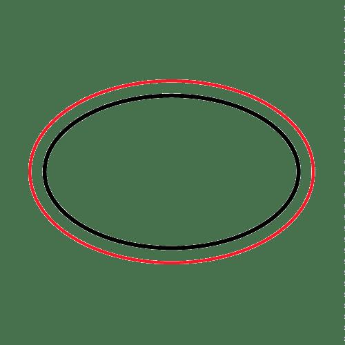 Etichette chiudibusta stampa a caldo – Ovale – F.to 2.23X1.43