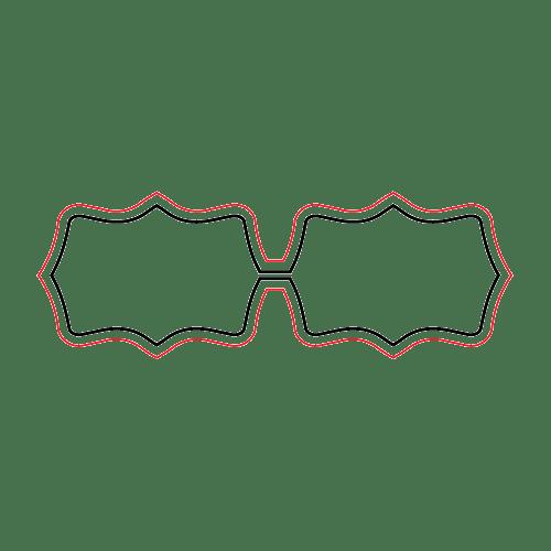 Etichette chiudibusta stampa a caldo – Doppie – F.to 4.3X1.5