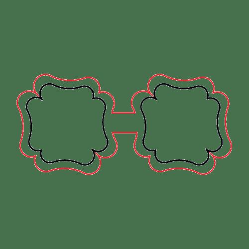 Etichette chiudibusta stampa a caldo – Doppie – F.to 4.3X2