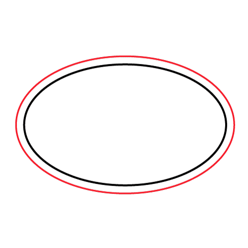 Etichette chiudibusta stampa a caldo – Ovale – F.to 3.5X2.2