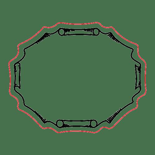 Etichette chiudibusta stampa a caldo – Ovale – F.to 3.9X3.13