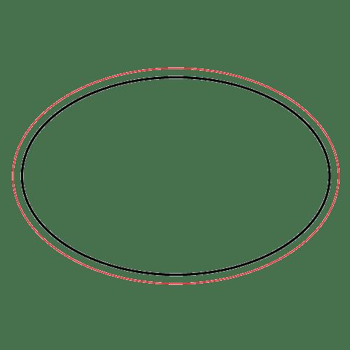 Etichette chiudibusta stampa a caldo – Ovale – F.to 6.5X4.3