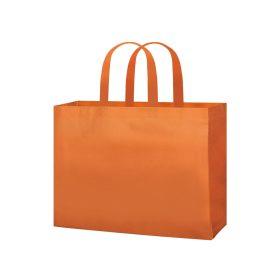 shopper TNT personalizzate manico corto colore arancione