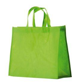 shopper TNT personalizzate manico corto colore verde chiaro