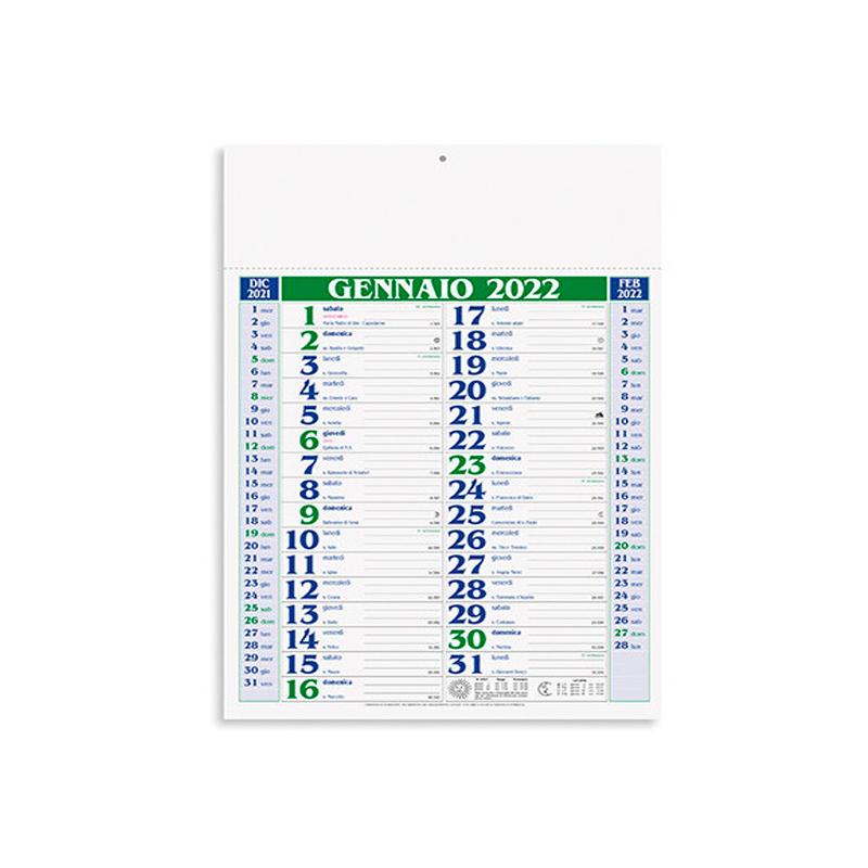 calendario olandese personalizzato pa verde
