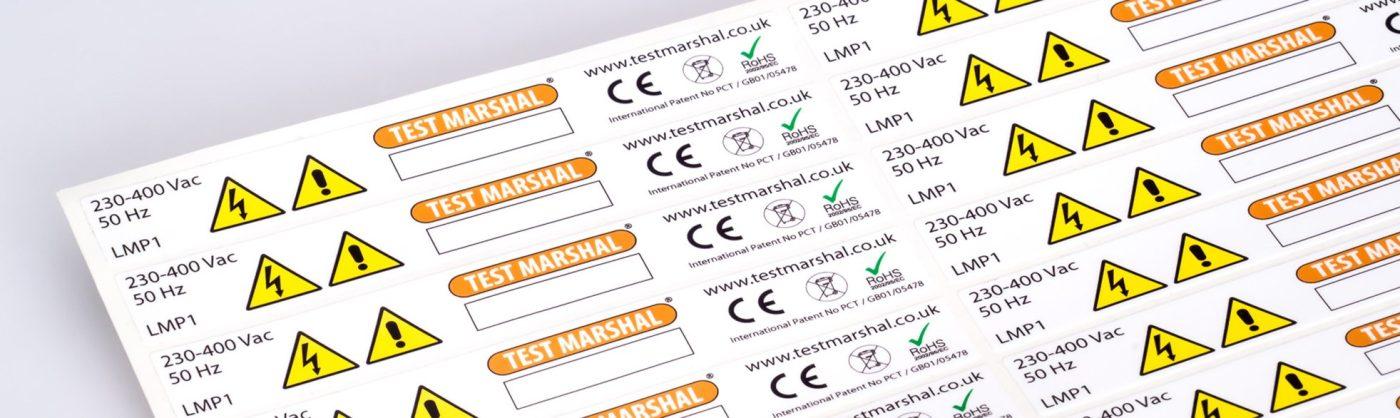etichette adesive personalizzate di pericolo