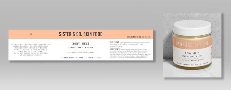 etichette adesivi per cosmetici profumi creme