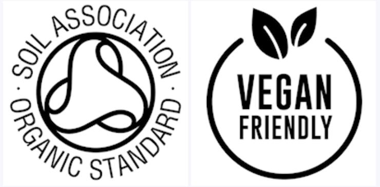 icone prodotto vegano etichette adesive